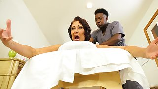 Wife screams with black hunk's huge unearth inside her ass