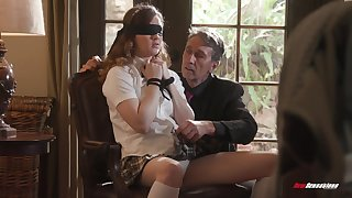 Pretty student in short skirt Devon Green is fucked wits old professor