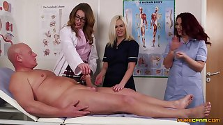 Doctor Anna Joy teaches her students notwithstanding how to suck a unstinted dick