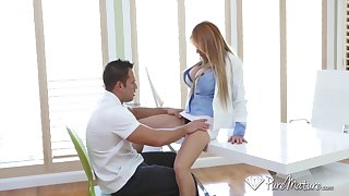 Female Mr Big brass Alyssa Lynn hires handsome employee Johnny Castle after crazy dealings projected