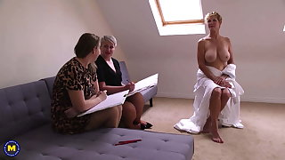 Hot lesbo sexual connection with adult busty lesbians