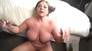 Divine busty grown-up lady is acquiring moneyshot