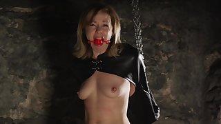 Hot MILF with heady epigrammatic boobs - bondage porn