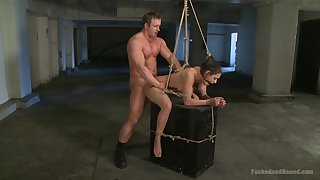 Brutal BDSM torture instalment with rough fucking for Charley Chase