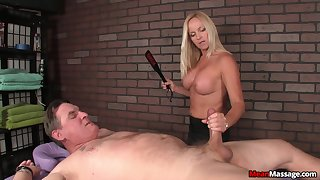 Blonde mature gets nude as she pleasures their way client's pulsating weasel words