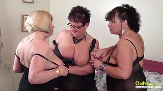 Busty mature BBWs are get-at-able be proper of some steamy group sex