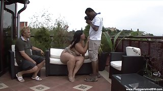 Chubby grown up filmed in cuckold scenes taking BBC in her holes