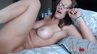 Of age with Hairy Pussy and Big Tits Teasing on Webcam