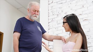 Cute newborn gives an old man an erection with hardly any effort